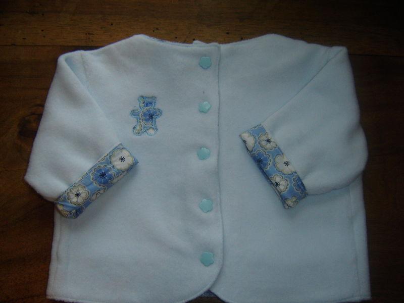 veste nounours bleu