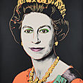 Andy warhol's take on the queen, from the reigning queens series, for sale at bonhams