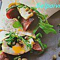 Wraps chorizo et œuf au plat