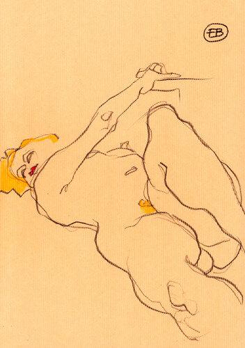 #croquisdenu modele vivant living model Etienne Bonnet Croquis nu dessin peinture Golden Blog Awards nude drawing sketch MDS00007 A