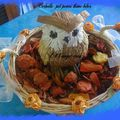 corbeille pot pourri hibou