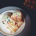 Wraps au saumon & tzaziki maison