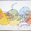 Aquarelle et calligraphie