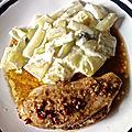 poulet mariné-gratin de blettes