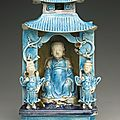 A turquoise-glazed zhenwu shrine, qing dynasty, kangxi period (1662-1722)