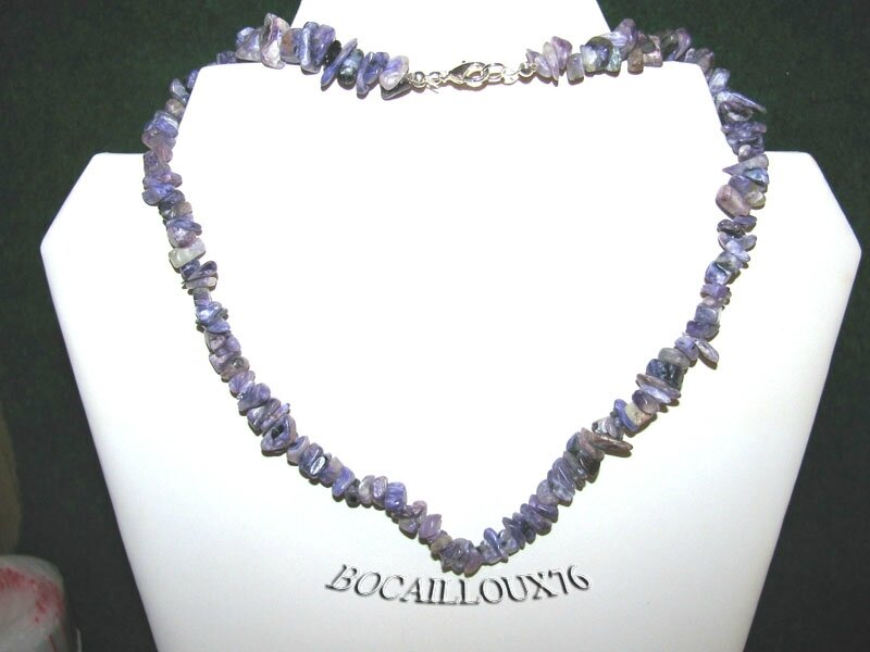 COLLIER CHAROITE 1 Chips Baroque