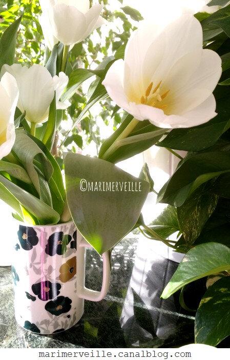 bouquet de tulipes mug monoprix - marimerveille