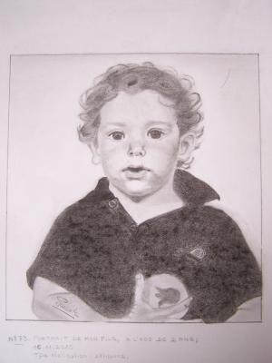 073 Mon fils Jérôme, à l'âge de 2 ans, 19X23 - NON DISPONIBLE