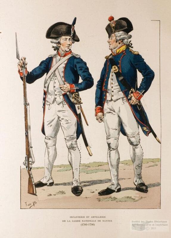 Le 23 septembre 1790 à Mamers : service de la garde nationale.