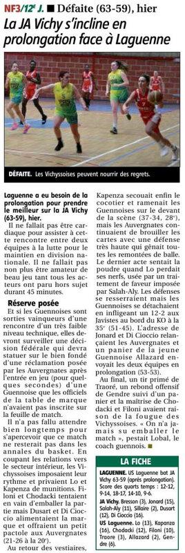19-01-14 SF1 perdent en prolongation à Laguenne