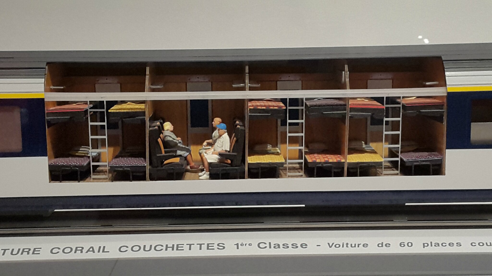 Maquette Voiture 1e classe couchettes Corail