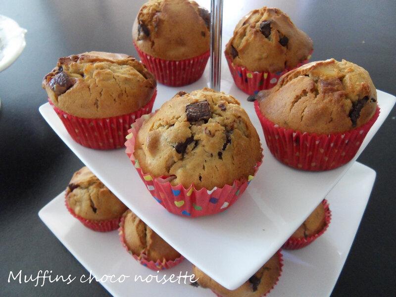 muffins choco noisette