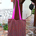 Big tote bag marron