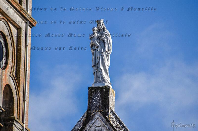 L'apparition de la Sainte Vierge à Maurille, Charlemagne et le saint Graal Sanctuaire Notre Dame de Marillais - Mauge sur Loire (6)