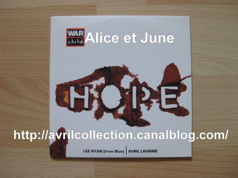 CD promotionnel Hope-War Child (2003)
