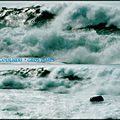 Grosses vagues, littoral insulaire....