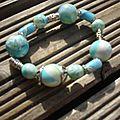 bracelet mokume turquoise