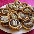 Mini tartelettes aux poires et chocolat