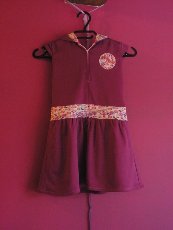 Robe fillette, en jersey/ Purplely