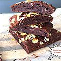 Brownie aux amandes ( sans beurre) 194 cal/par brownie