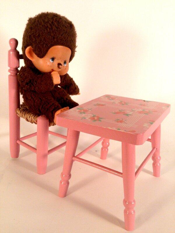 table & chaise pour poupée