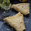 crepes sans gluten sans lactose déguisées en samoussas au parmesan