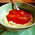 Cardamon and blood orange rice pudding - riz au lait cardamone et orange sanguine