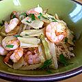 Fenouil aux crevettes et à lail - by claire -
