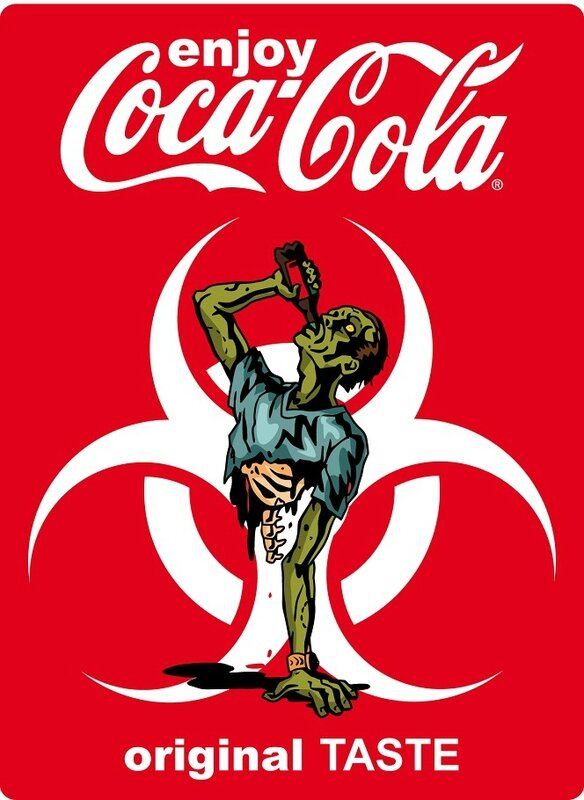 label coca cola zombie d
