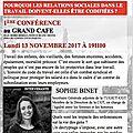 Le blanc-mesnil: conference de l'universite citoyenne,lundi 13 novembre 2017 a 19h avec sophie binet