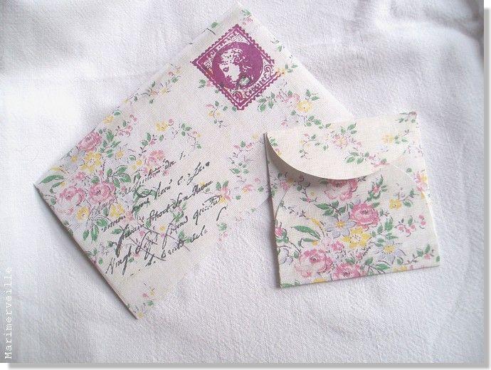 Enveloppes romantiques vintage