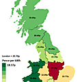 Business Electricity Prices By UK Region