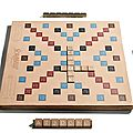 Scrabble en cuir - coach