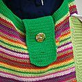 modèle sac au crochet multicolore