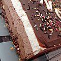 Bavarois trois chocolat sur feuillantine praliné