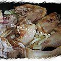 Tajine de poulet aux petits pois et pruneaux