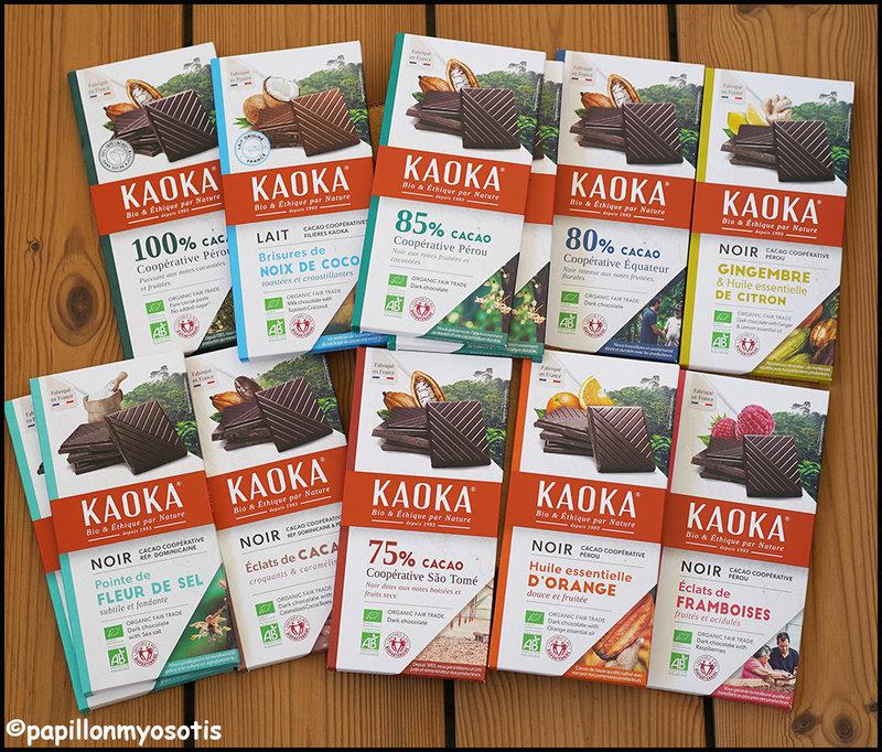 Chocolat Kaoka tablettes Dégustation