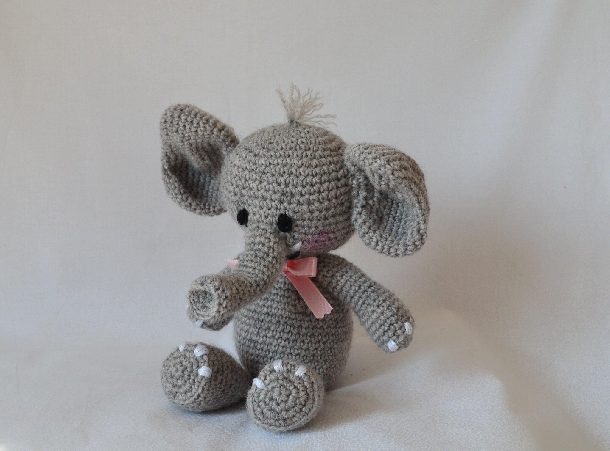 Elephant au crochet agurigami