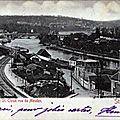vue de Bellevue : la seine et St Cloud