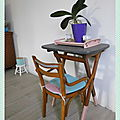 Table vintage relookée