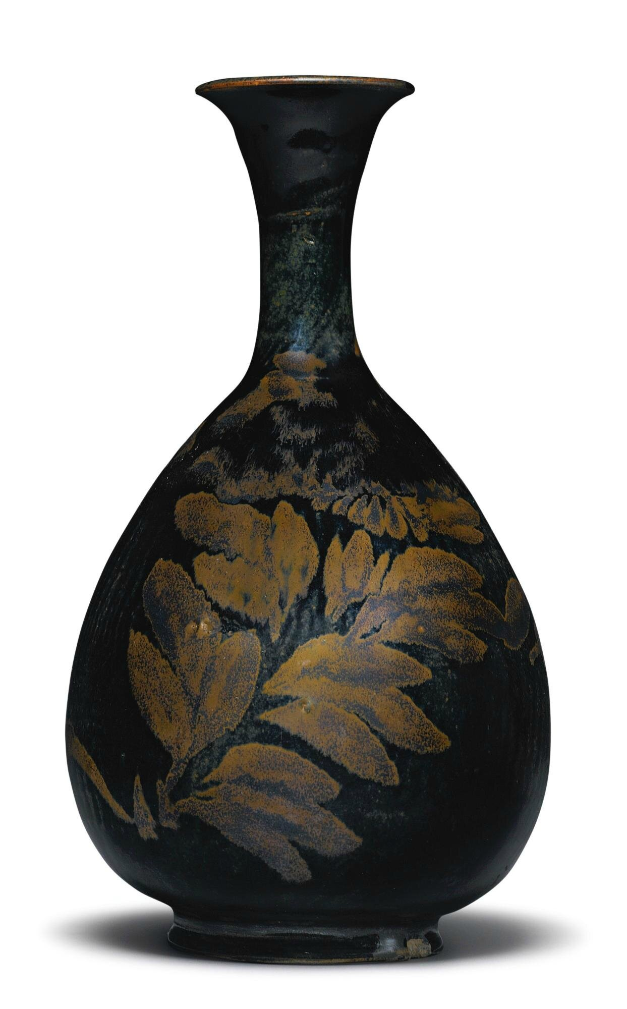 A black-glazed russet-splashed vase, Northern Song-Jin Dynasty