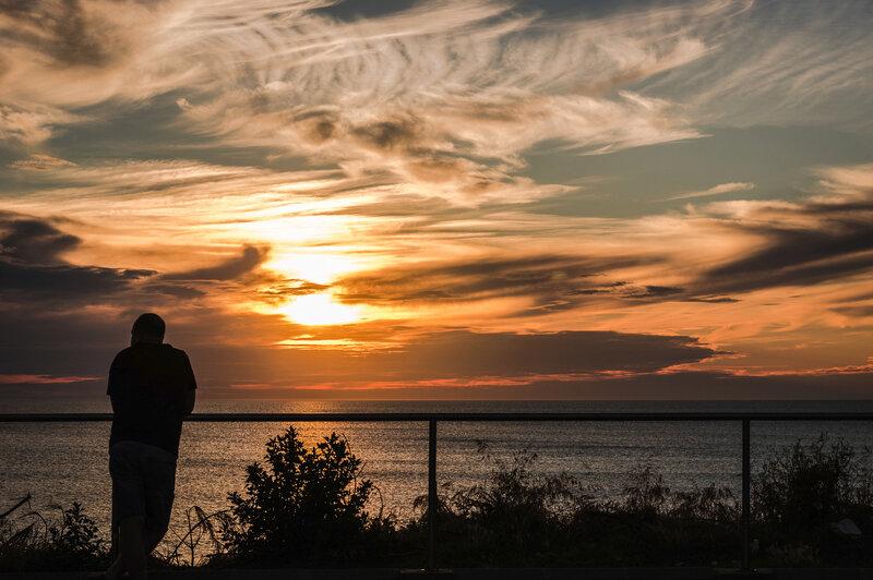 Coucher de soleil à Labenne-Océan
