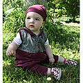 robe capuche violette fleur verte maelenn 7