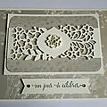 Carte un jour à célébrer #4 kit dentelles de papiers