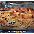 Crumble coings , pommes , bananes