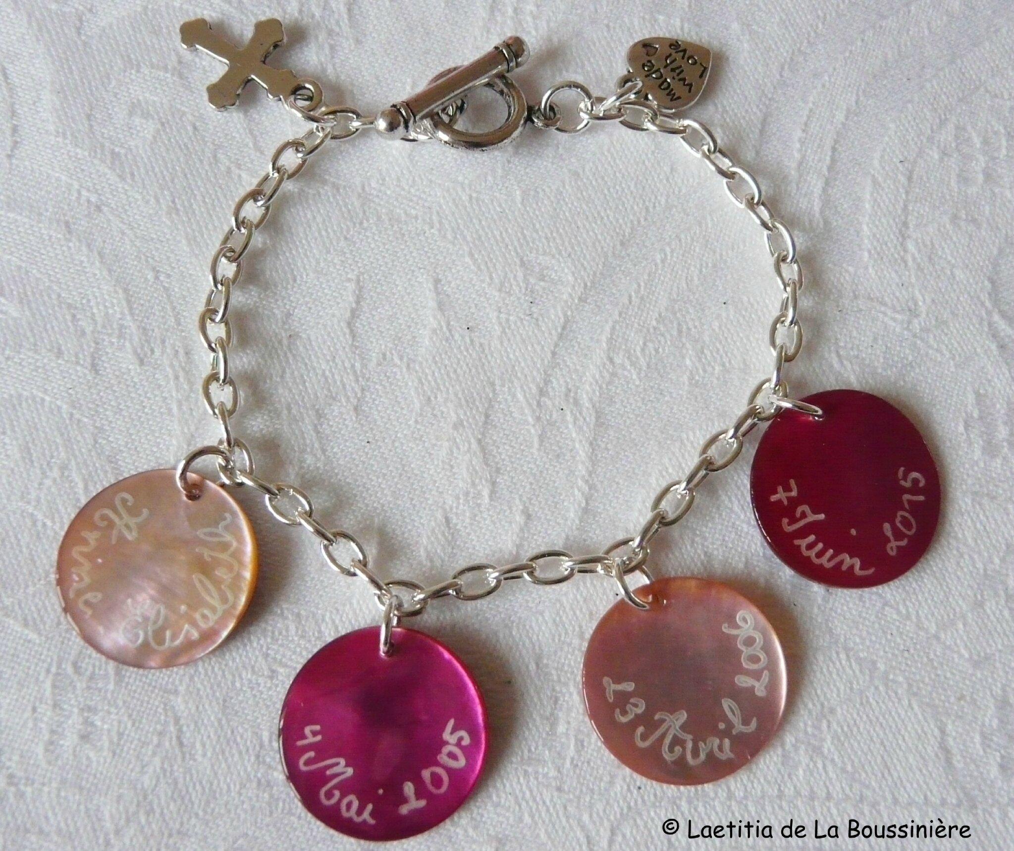 Bracelet de Communion sur chaîne métal - 33 €