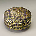 A finely decorated small gilt-silver box and cover, tang dynasty (618-906)