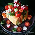Salade cadeau ou sandwich cake et salade jolie