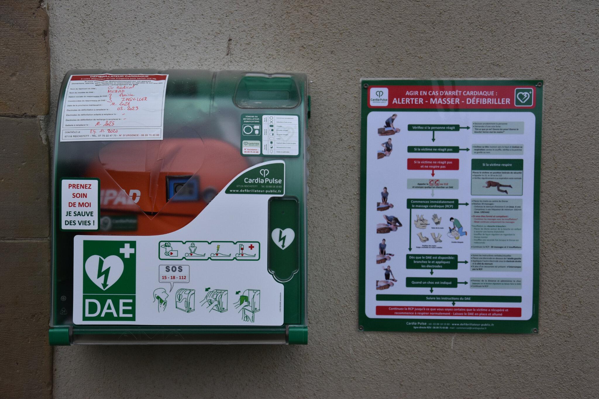 La commune s'équipe d'un défibrillateur
