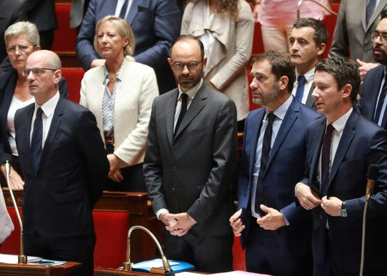 g-d-le-ministre-de-l-education-jean-michel-blanquer-le-premier-ministre-edoua